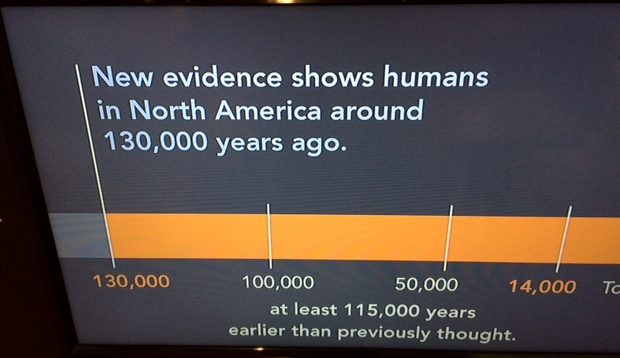 Evidence of Homo in N. America 130,000 year ago