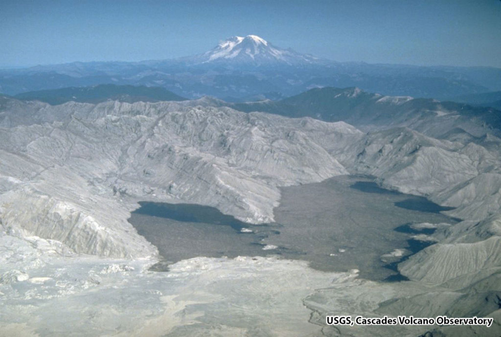 Spirit Lake after Mt. St. Helen's Eruption